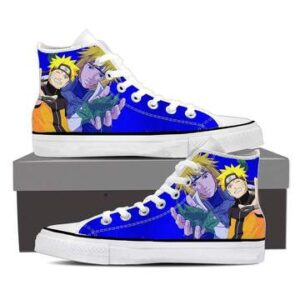 Naruto Minato Like Father Like Son Cool Blue Sneakers Shoes
