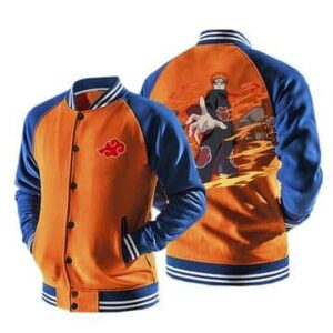 Naruto Nagato Six Paths of Pain Puppet Orange Baseball Jacket