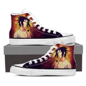 Naruto Shippuden Sasuke Uchiha Fire Release Sneakers Shoes