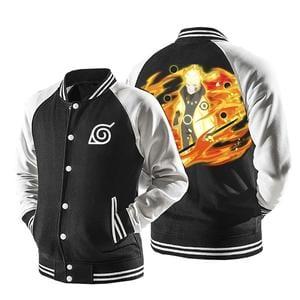 Naruto Six Path Sage Mode Form Orange Flame Baseball Jacket