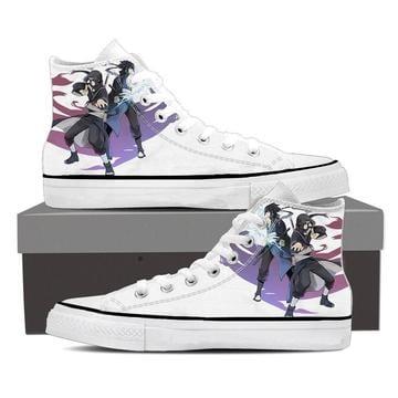Naruto Uchiha Brothers Itachi Sasuke White Sneakers Shoes