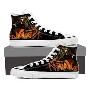 Naruto Uzumaki Kurama Sage Mode Black Anime Sneakers Shoes