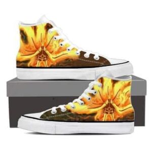 Naruto Uzumaki Sage Mode Flaming Orange Anime Sneakers Shoes