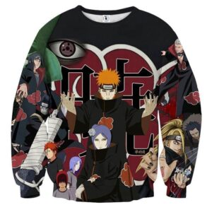 Naruto Akatsuki Evil Mercenary Ninja Group Print Sweatshirt