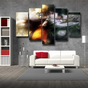 Naruto And Fight Sasuke Epic Battle Fanart 5pcs Canvas Print
