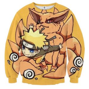 Naruto And His Fox Fanfiction Japanese Anime Cool Sweatshirt