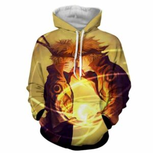 Naruto And Minato Paternal Bond Vibrant Design Hoodie