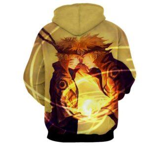 Naruto And Minato Paternal Bond Vibrant Design Hoodie