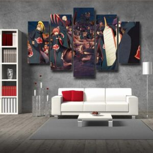 Naruto Anime Akatsuki Clan Revival Scary 5pcs Wall Art Decor