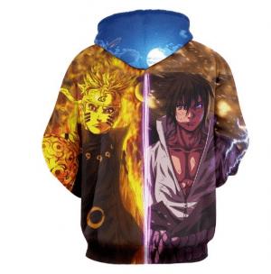 Naruto Anime Minato Fighting Aggressive Vibrant 3D Hoodie