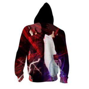 Naruto Anime Uchiha Itachi And Sasuke Back To Back Hoodie