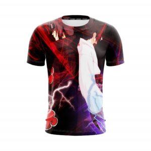 Naruto Anime Uchiha Itachi And Sasuke Back To Back T-Shirt
