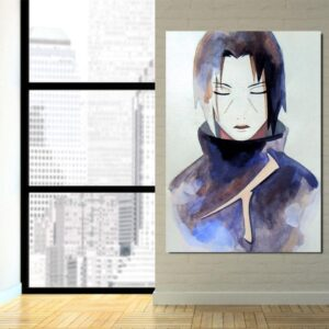Naruto Anime Uchiha Itachi Painting Portrait 1pc Wall Art