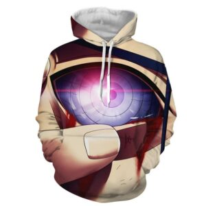 Naruto Anime Uchiha Madara Activating Rinnegan Eye Hoodie