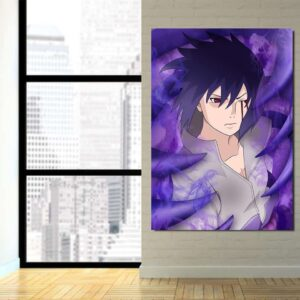 Naruto Anime Uchiha Sasuke Bleeding Eyes Susanoo 1pc Canvas