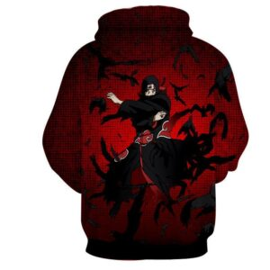 Naruto Itachi Uchiha Magic Jutsu Akatsuki Theme Hoodie