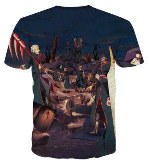 Naruto Japan Anime Akatsuki Revival Scary Full Print T-Shirt