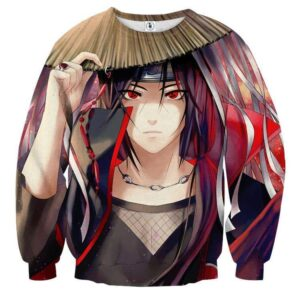 Naruto Japan Anime Female Itachi Fan Art Design Sweatshirt