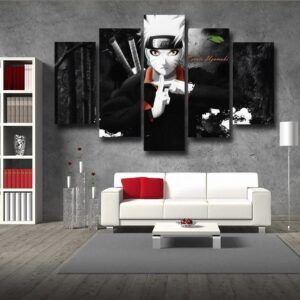 Naruto Jinchuuriki Legend Ninja Fan Art Black 5pcs Wall Art