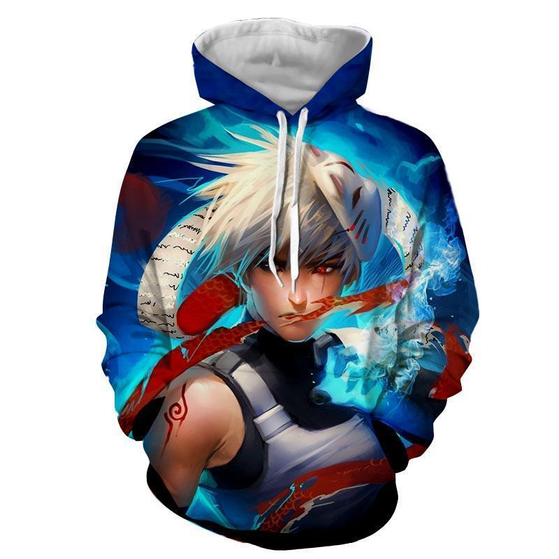 Naruto Kakashi Hatake Anbu Ninja Fan Art Design Hoodie