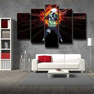 Naruto Kakashi Hatake Copy Ninja Cool Streetwear 5pcs Canvas