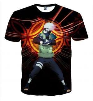 Naruto Kakashi Hatake Copy Ninja Cool Symbol Art T-Shirt