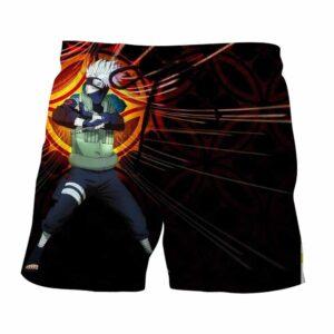 Naruto Kakashi Hatake Copy Ninja Cool Symbol Pattern Shorts