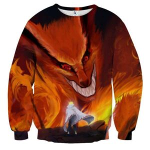 Naruto Kurama Fire Monster Fox Fan Art Dope Sweatshirt