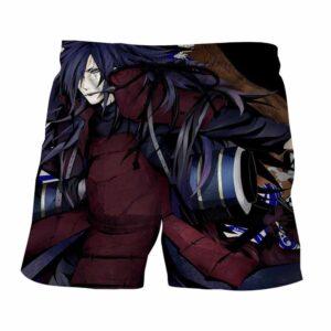 Naruto Madara Uchiha Gruesome Ninja Art Style Design Shorts