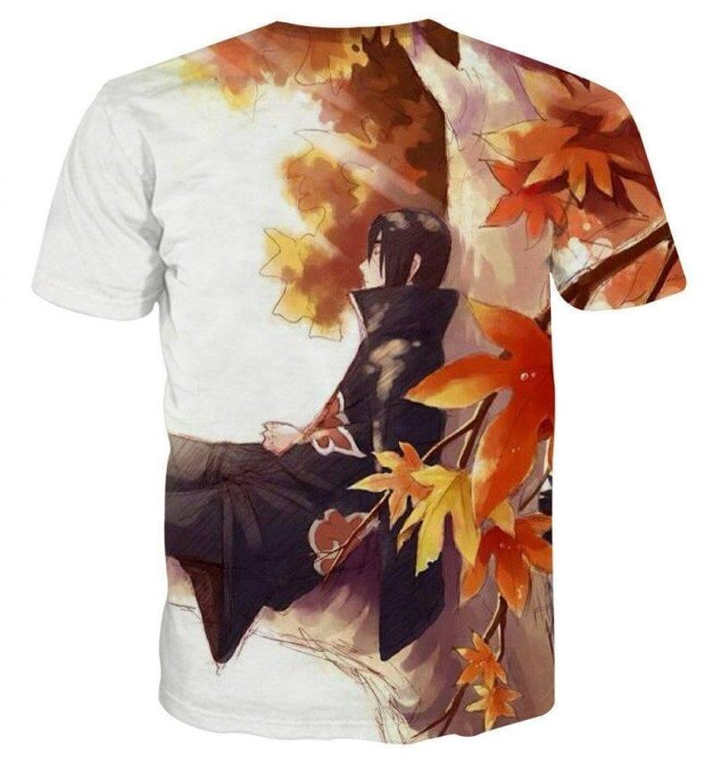 Naruto Manga Itachi Relax Pencil Sketch Fan Art T-Shirt
