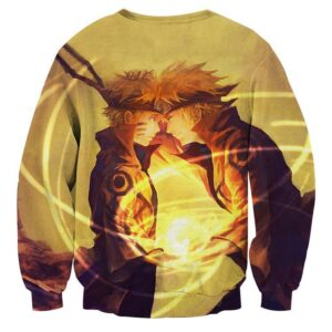 Naruto Minato Father Son Rasengan Fan Art Cool Sweatshirt