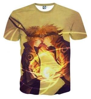 Naruto Minato Father Son Rasengan Fan Art Cool T-Shirt