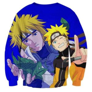 Naruto Minato Like Father Like Son Cool Manga Sweatshirt