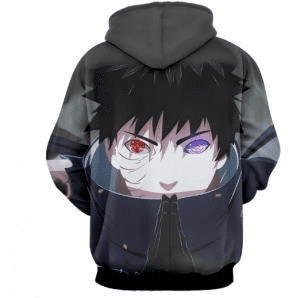 Naruto Obito Mangekyou Sharingan 3D Print Cool Hoodie
