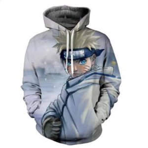 Naruto Ready For Battle Land Of Snow Amazing Anime Dope 3D Hoodie
