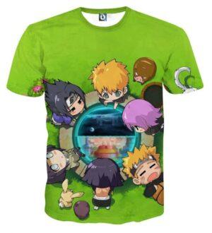 Naruto Sasuke Japan Anime Chibi Style Cute Funny T-Shirt