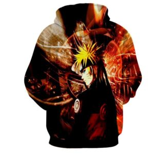 Naruto Shippuden Fan Art Fire Background Design Hoodie