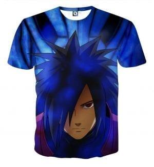 Naruto Shippuden Fierce Uchiha Madara Blue Susanoo T-Shirt
