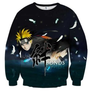 Naruto Shippuden Sasuke Bond Friendship Cool Sweatshirt
