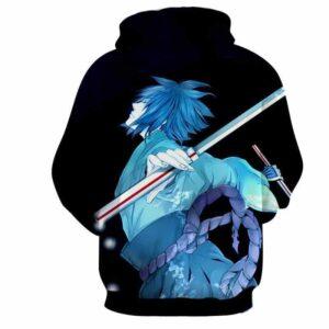Naruto Shippuden Sasuke Katana Art Style Sketch Hoodie
