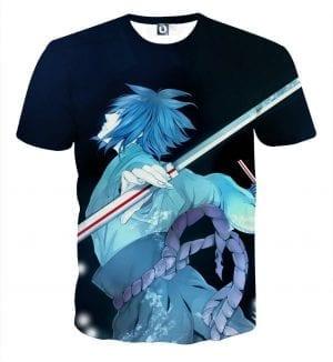 Naruto Shippuden Sasuke Katana Art Style Sketch T-Shirt