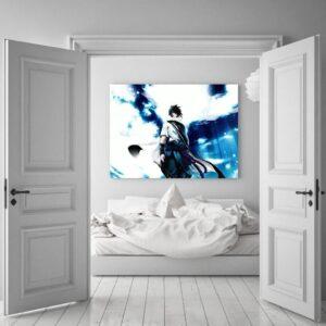 Naruto Shippuden Sasuke Uchiha Blue Sky 1pc Wall Art Decor