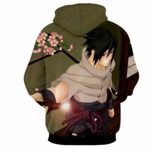 Naruto Shippuden Sasuke Uchiha Katana Sword Cool Hoodie