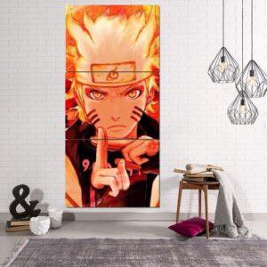 Naruto Six Paths Sage Mode Shadow Clone Technique 3pcs Canvas