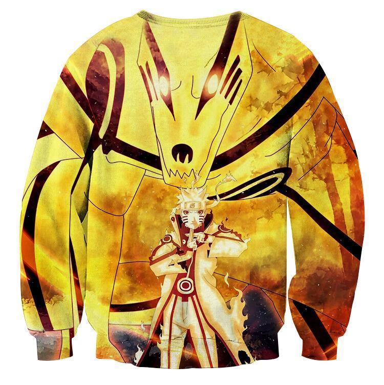 Naruto Sixth Path Sage Mode Kurama Fox Awesome Sweatshirt