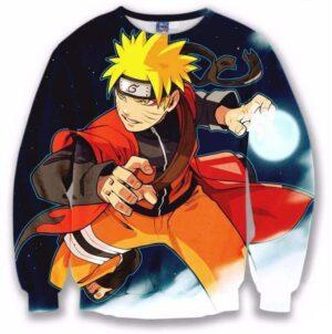 Naruto Uzumaki Cool 3D Full Print Crewneck Sweatshirt