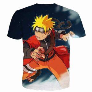 Naruto Uzumaki Cool One of a Kind Blue 3D Full Print T-Shirt