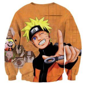 Naruto Uzumaki Japanese Anime Smiling Cute Cool Sweatshirt