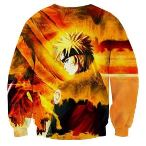 Naruto Uzumaki Kyuubi Fox Pattern Dope Art Winter Sweatshirt