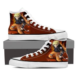 Naruto Uzumaki Anime Powerful Fan Art Orange Sneakers Shoes